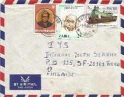 DRC RDC Zaire 1980 Butembo Code Letter A President Mobutu Einstein Nobel 2k Steam Train 2Z Cover - Zaïre