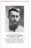 SINT-KRUIS - YAMBUKU (Zaîre)  , Doodsprentje V. PATER Germain LOOTENS + 1976 - Documents Historiques