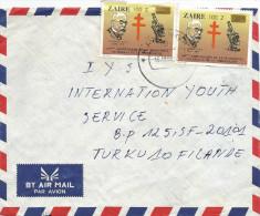 DRC RDC Zaire 1980 Kawanga Code Letter D Robert Koch Tuberculose 100Z Overprint Cover - Zaïre