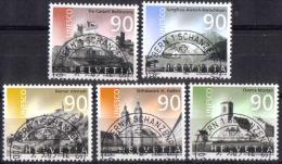 Zu 1096-1100 / Mi 1846-1850 / YT 1769-1773 UNESCO Obl. 1er Jour Demi-lune BERN 1 SCHANZENPOST - Switzerland