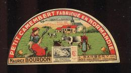 Etiquette De Fromage Petit Camembert  -  Maurice Bourdon à Barbery  (Calvados) - Cheese