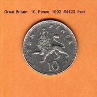 GREAT BRITAIN    10  PENCE  1992  (KM # 938b) - 1971-… : Decimal Coins