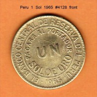 PERU    1  SOL  1965  (KM # 222) - Peru
