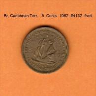 BRITISH CARIBBEAN TERRITORIES    5  CENTS  1966  (KM # 4) - Britse Caribische Gebieden