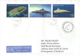 Phares Des îles De La Mer Adriatique (îles De Mulo,Blitvenica, Prišnjak ) 3 T-p Sur Lettre Adressée En Andorre - Phares