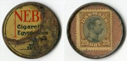 N93-0137 - Timbre-monnaie - Danemark - Nebo 25 Ore - Kapselgeld - Encased Stamp - Monétaires / De Nécessité