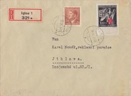 Böhmen Und Mähren R-Brief Mif Minr.100,132 Iglau 16.9.43 FDC - Briefe U. Dokumente