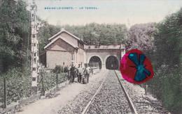 BRAINE LE COMTE - Le Tunnel - Superbe Carte Colorée Et Circulée En 1909 - Braine-le-Comte