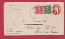 Usa  //  Entier Postal //  De Dixon  //  Pour Neuville  //  30/3/1915 - Postal Stationery