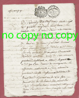 Acte 4 Pages Donation 19 MARS 1791 Quietard  Mens GRENOBLE Cachet Royal 2 Sols 4 Deniers Expedition 8 Sols - Seals Of Generality
