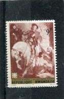 RWANDA. 1967. SCOTT 215. PAINTINGS: ST. MARTIN, BY VAN DYCK AND CARITAS EMBLEM - Rwanda