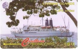 TARJETA DE LAS ISLAS CAYMAN DE UN BARCO (SHIP)  131CCIA - Cayman Islands