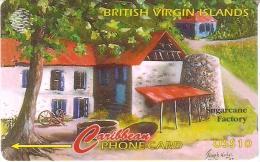 TARJETA DE BRITISH VIRGIN ISLANDS DE SUGARCANE FACTORY  193CBVH - Islas Virgenes
