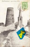 VILLE- POMMEROEUL - Eglise Et Ancien Moulin - Superbe Carte - Bernissart
