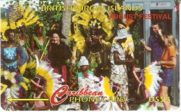 TARJETA DE BRITISH VIRGIN ISLANDS DE AUGUST FESTIVAL 103CBVH - Islas Virgenes