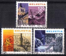 Zu 1000-1002 / Mi 1727-1729 / YT 1654A-1654C Obl. Demi-lune 1er Jour BERN 1 SCHANZENPOST - Switzerland