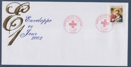 = Croix Rouge 2002 Enveloppe 1er Jour Paris 7.11.2002  N°3531 Sommeil De L'enfant Jésus Par Giovanni Battista Salvi - FDC