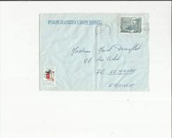 Enveloppe  Timbrée   De  Cie Transatlantique France -Voir Scan Adressé A Mme Decouflet  Au Havre 76 - Poste Aérienne