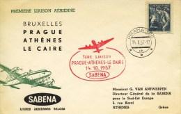 Eerste Sabena Vlucht - Brussel-Praag-Athene-Cairo (1957) - Transport