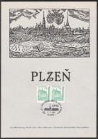 Czech Rep. / Commemorative Sheet (PaL 1995/01) Plzen 1: Established In City Pilsen King Wenceslas II. (1295) - Blocks & Sheetlets