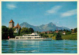 MS Beatus, Spiez, Thunersee BE, Switzerland Postcard - BE Berne