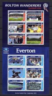 Grenada 2001 Football Soccer British Soccer Clubs Set Of 8 Sheetlets MNH - Football