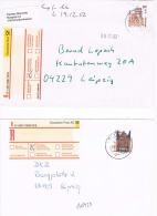 2753// GERMANY - 2 Belege - Freimarken - Auf  R-Briefe  - Einzelfrankatur - BRD