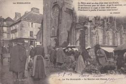CPA  VIRE Place Nationale  Le MARCHE Aux CHOUX Animé  POEME Ch. FREMINE  1903 - Vire
