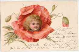 Fleurs Pavot Coquelicot - Tête D'enfant Dans La Fleur (vers 1900 - Fleurs, Plantes & Arbres