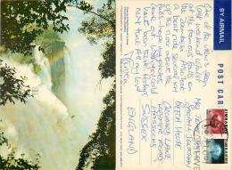 Victoria Falls, Zimbabwe Postcard Posted 1980s Stamp - Zimbabwe