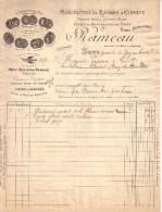 """YONNE - SENS - MANUFACTURE DE RASOIRS & CISEAUX - FUSILS DE BOUCHERS - MARQUE """" LA COLOMBE """" - RAMEAU - 1901 , 1905 ? - France"""