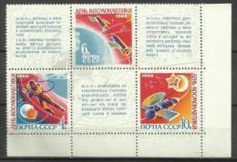 RUSSIA - 1968 Astronauts Day Block MNH **   Sc 3458a - 1923-1991 USSR