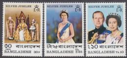 BANGLADESH, 1977 QUEENS JUBILEE 3 MNH - Bangladesh