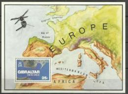 GIBRALTAR  - 1978 Gibraltar From Space S/sheet MNH**  SG 399  Sc 364 - Gibraltar
