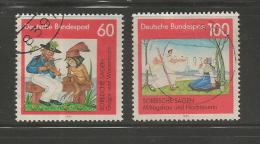 GERMANY 1991 Used Stamp(s)  Fairy Tales Nrs. 1576-1577, #12858 - [7] Federal Republic