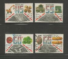 NEDERLAND 1981 Serie Export Zegels Gestempeld 1228-1231 # 1265 - Period 1980-... (Beatrix)