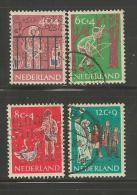 NEDERLAND, 1959 Kinder Zegels Gebruikt, 731=735 # 138 4 Zegels (dus Niet Kompleet - Period 1949-1980 (Juliana)