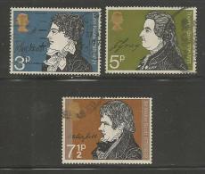 UK 1971 Used Stamp(s) Literary Events Nrs. 577-579, #14369 - 1952-.... (Elizabeth II)