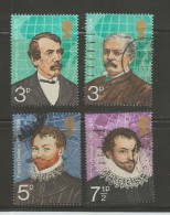 UK 1973 Used Stamp(s) British Explorers Nrs. 616-620, #14383 4 Values Only - Used Stamps