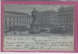 GRUSS AUS BERLIN  .- Alexanderplatz -  Berolina - Deutschland