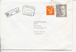 Gelaufener Einschreibebrief (R-letter) Von Spanien Nach Deutschland, 1992 - *) - Luftpost