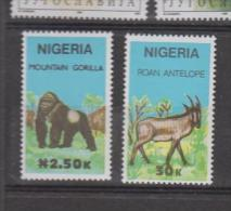 Nigéria YV 564; 566 N 1990 Gorille Bubale - Ohne Zuordnung