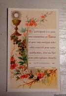 Image Pieuse Ancienne 7 X 11 Cm - Communion  - 1887 - Santini