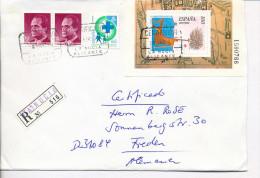 Gelaufener Einschreibebrief (R-letter) Von Spanien Nach Deutschland, 1994 - *) - Luftpost