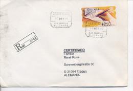 Gelaufener Einschreibebrief (R-letter) Von Spanien Nach Deutschland, 1995 - *) - Luftpost