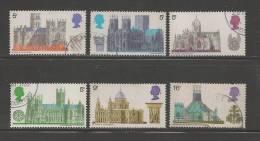 UK 1969 Used Stamp(s) British Cathedrals Nrs. 516-521 #14355 - 1952-.... (Elizabeth II)