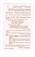 BRUGGE - MEULEBEKE - PRIESTERWIJDING  Van Marcel CARPENTIER In 1947 - Godsdienst & Esoterisme