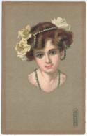 E. COLOMBO - Femme - Fleurs Et Perles Dans Les Cheveux - 952-6 - Colombo, E.