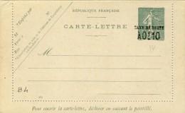 ENTIER POSTAL  # CARTE -LETTRE NEUVE # SEMEUSE LIGNEE 15 C VERT  # 1904 #  REF :STORCH -FRANCON # B 4 # - Ganzsachen
