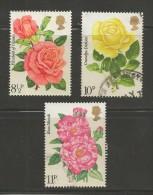 UK 1976 Used Stamp(s) Rose Society Nrs. 711-714 3 Values Only #14406 - 1952-.... (Elizabeth II)